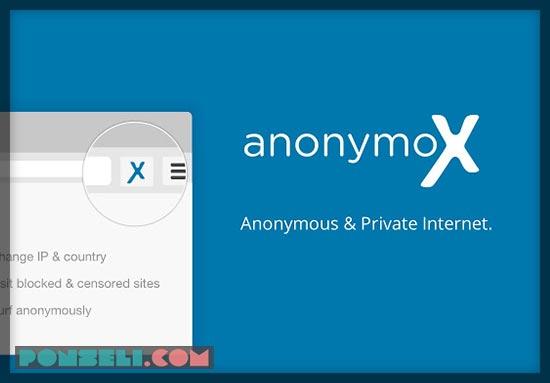 Menggunakan AnonymoX Extension