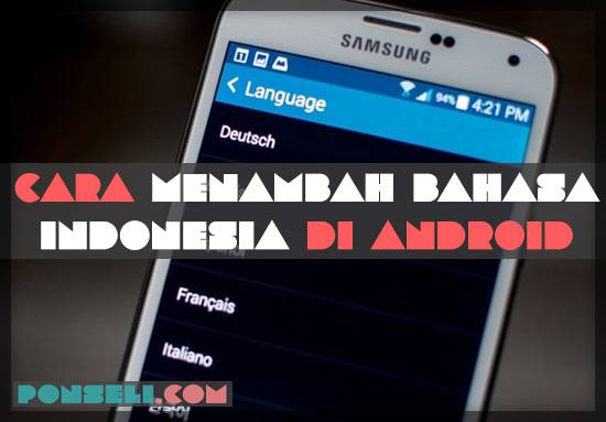 Cara Menambaha Bahasa Indonesia di Android