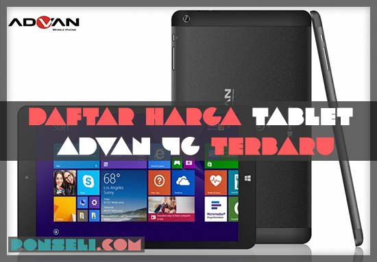 Harga Tablet Advan 4G