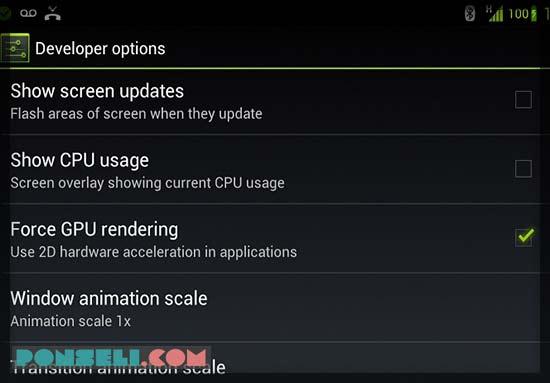 Aktifkan GPU 2D Rendering
