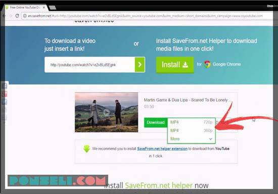 Cara Download Video di Youtube dengan downloder