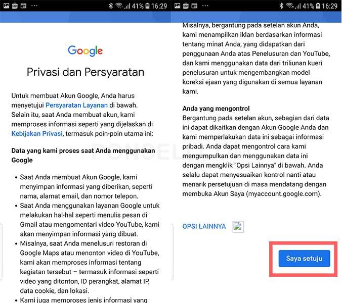 Cara Membuat Email di Hp Android