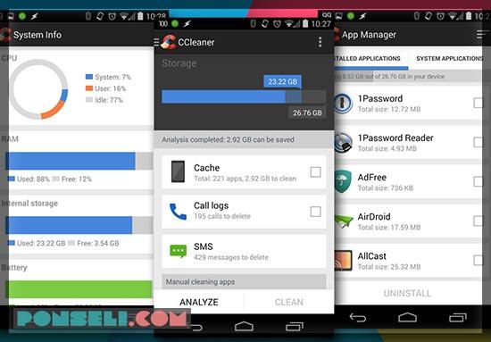 Menambah Ram Dengan CCleaner Android