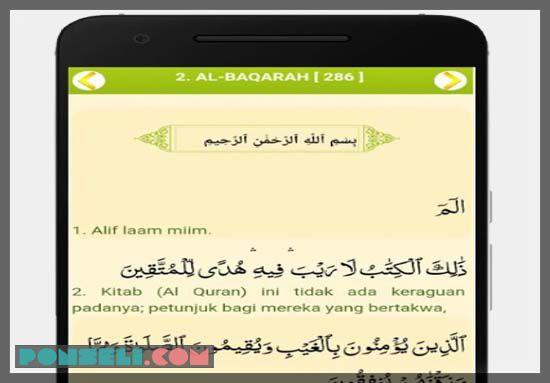 Aplikasi Al Quran terjemah Indonesia