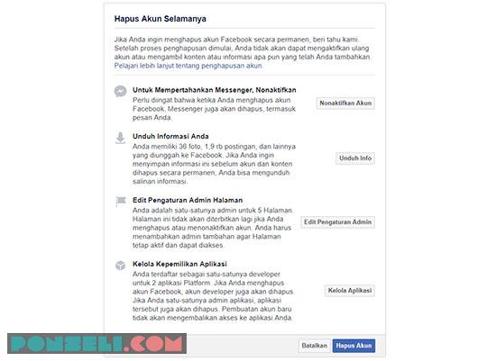 Cara Mengapus Akun FB Selamanya