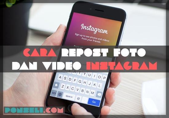 Cara Repost Instagram Terbaru
