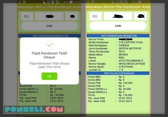Aplikasi Cek Pajak Motor Online