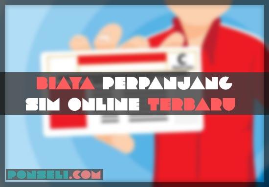 Biaya Perpanjang SIM Online