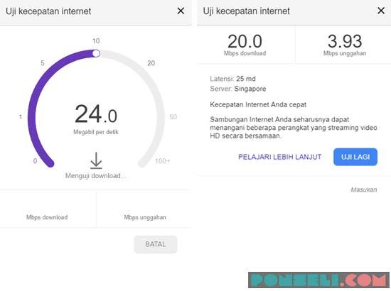 Tes Kecepatan Internet Google
