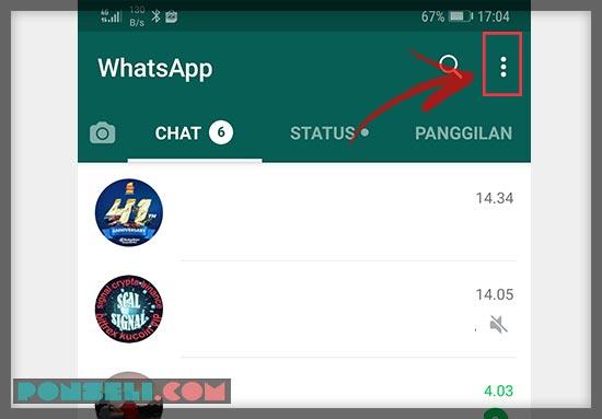 Cara Menghilangkan Status Online WhatsApp