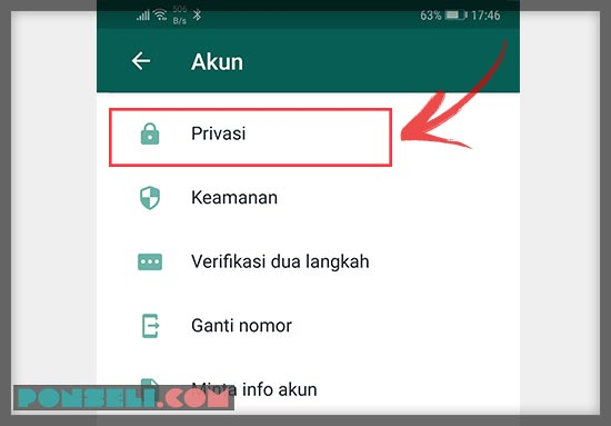 Cara Setting Privacy WhatsApp