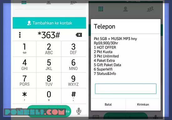 Cek Kuota Indosat Format Dial Number