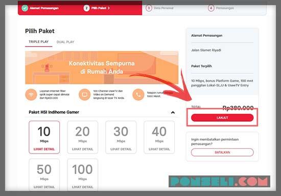 Pilih Paket Internet IndiHome