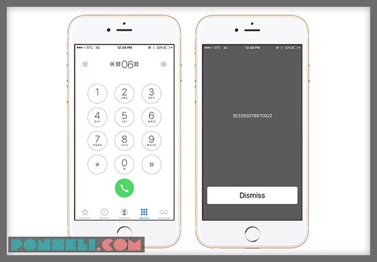 Kode Cek IMEI iPhone