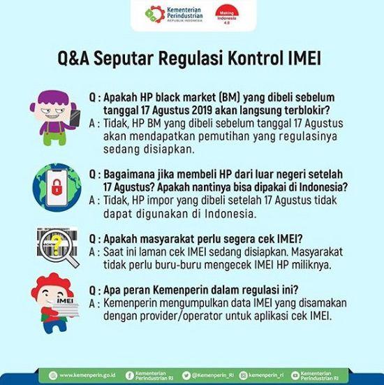 Regulasi IMEI Kemenperin