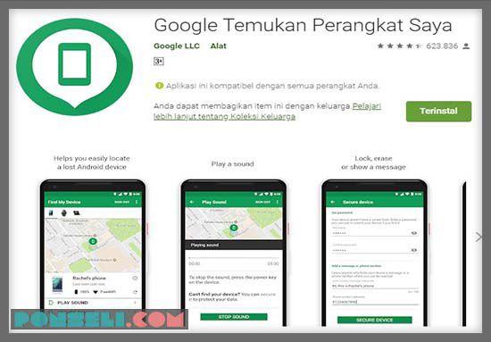 Aplikasi Google Find Device
