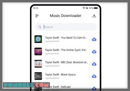 Aplikasi Android MP3 Downloader