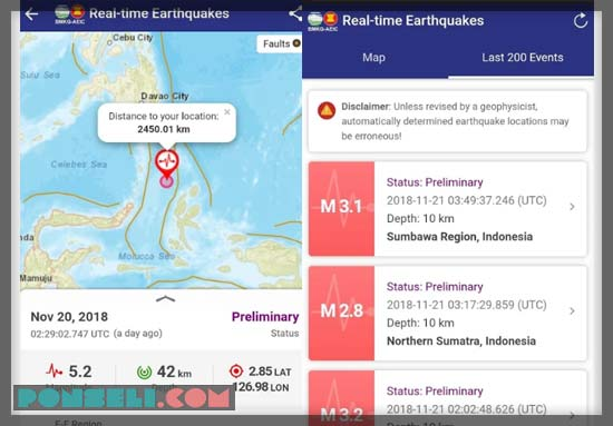 Aplikasi Gempa BMKG