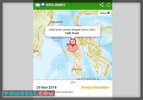 Aplikasi Gempa WRS-BMKG