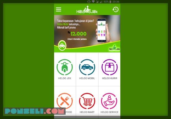 Aplikasi Ojek Online HeloJek