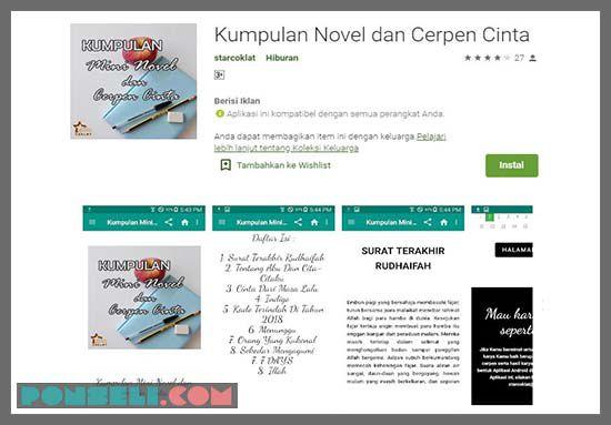 Kumpulan Novel Dan Cerpen