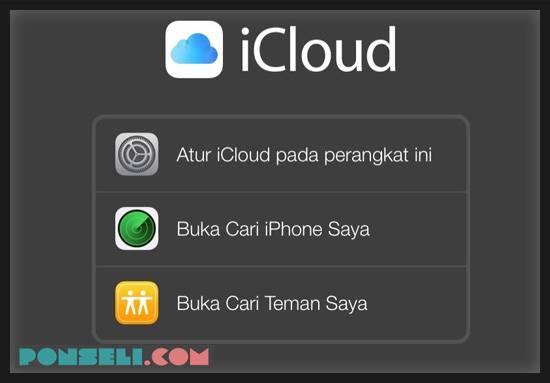 Menggunakan Web iCloud