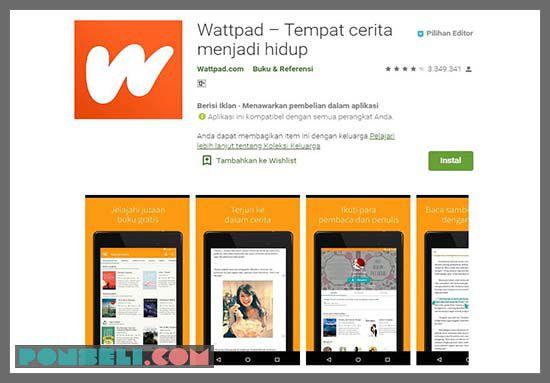 Wattpad Aplikasi Baca Novel