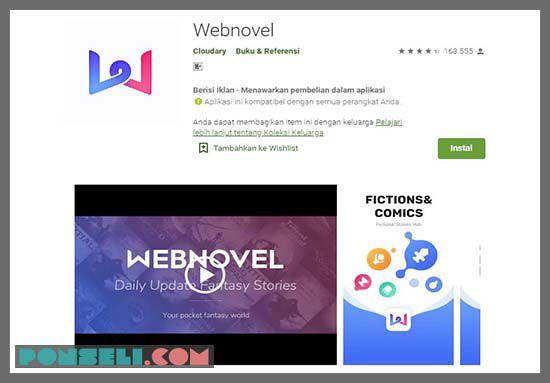 Webnovel aplikasi Baca Gratis