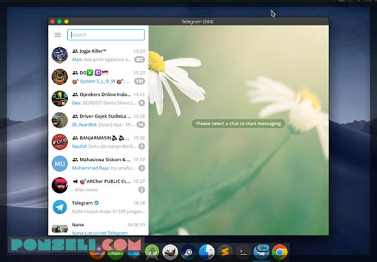 Aplikasi Telegram Linux