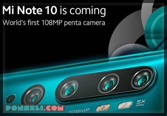 Kamera Mi Note 10