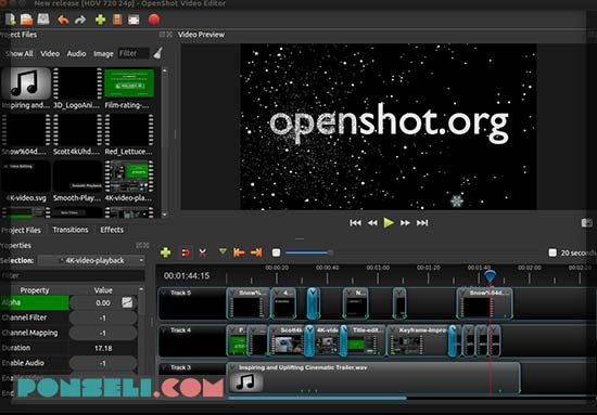 Openshot Video Editior PC Gratis Terbaik