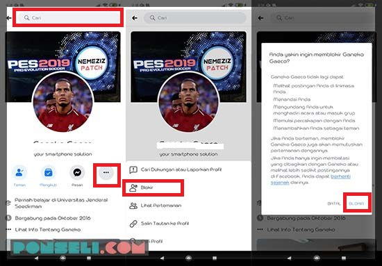 Cara Blokir Facbook Aplikasi Facebook Android