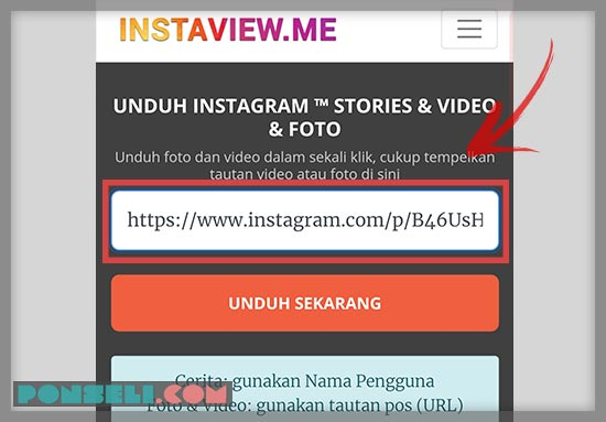 Cara Download Foto Instagram