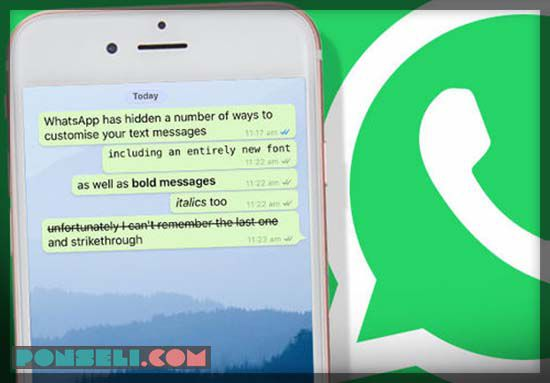 Cara Ganti Huruf Di WhatsApp Jadi Tebal