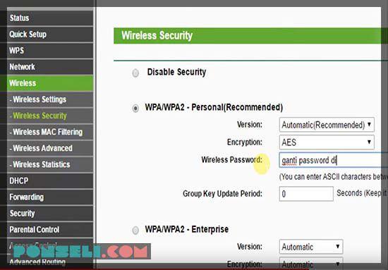 Cara Mengganti Password Wifi Modem TP-LINK