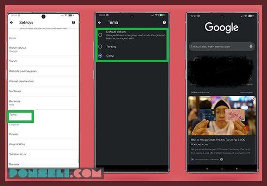 Cara Menggubah Tampilan Google Chrome Menjadi Dark Mode
