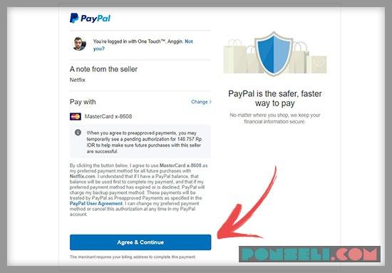 Cara Bayar Netflix Dengan PayPal