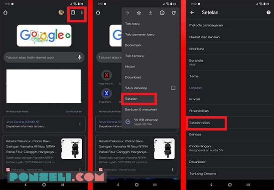 Cara Blokir Situs Di Google Chrome Android