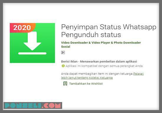 Penyimpanan Status Whatsapp