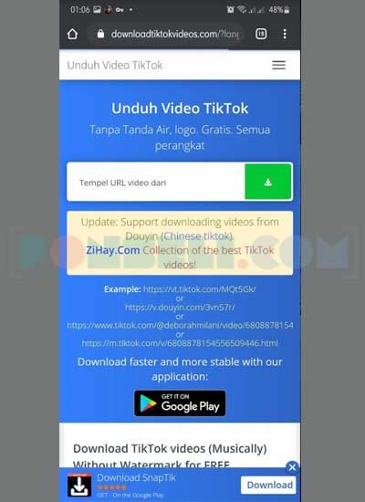 Situs Download Video Tiktok