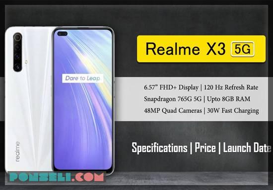 Spesifikasi dan Harga Realme X3 5G